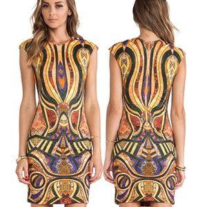 NWT Torn by Ronny Kobo Morgan Dress in Gold Multi